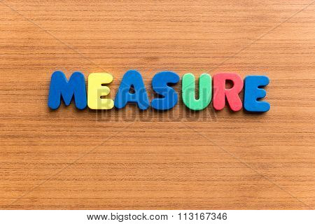 Measure  Colorful Word