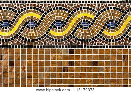 Mosaic tiles with ornament.