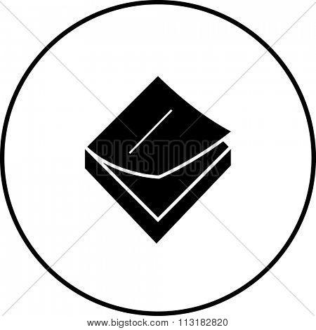sticky notes memo pad symbol