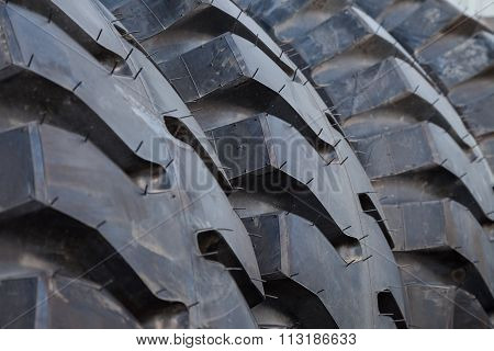 Truck Tire Stack Background