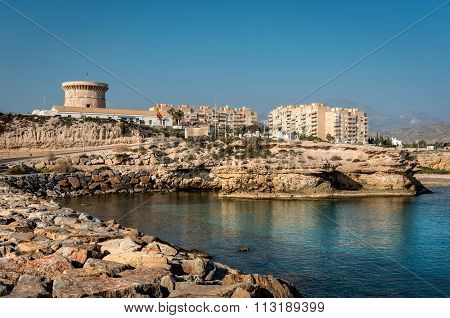 El Campello Bay, Is A Coastal Town On The Costa Blanca, Alicante. Valencia, Spain