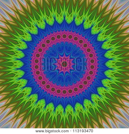 Abstract floral mandala ornament background