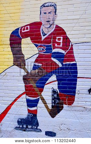 Street art Maurice Richard