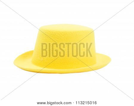 Bright Yellow Hat With A Brim