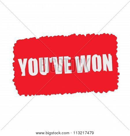 You've Won White Stamp Text On Blood Drops Red Background