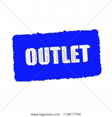 Outlet White Stamp Text On Blood Drops Blue Background