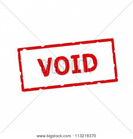 Void Red Stamp Text On Rectangular White Background
