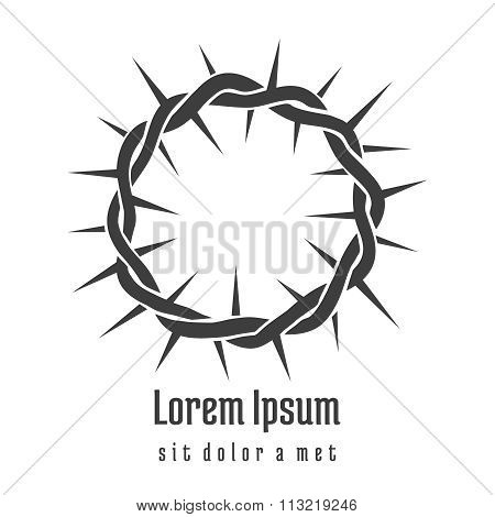 Jesus Crown of Thorns Logo