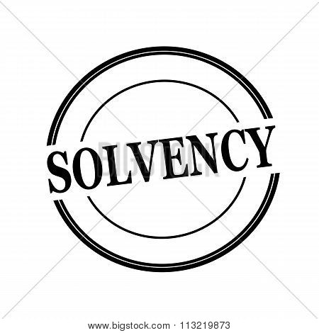 Solvency Black Stamp Text On Circle On White Background