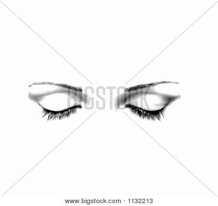 geschlossenen Augen