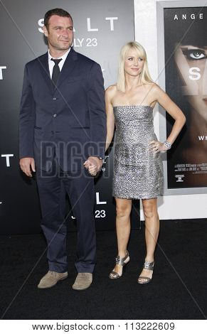 Liev Schreiber and Naomi Watts at the Los Angeles Premiere of