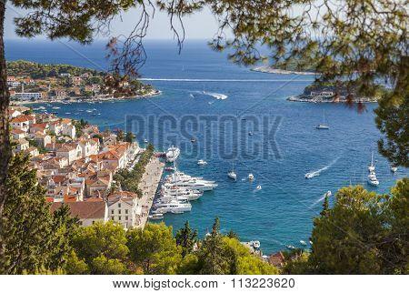 View of Hvar Town, Hvar Island, Croatia