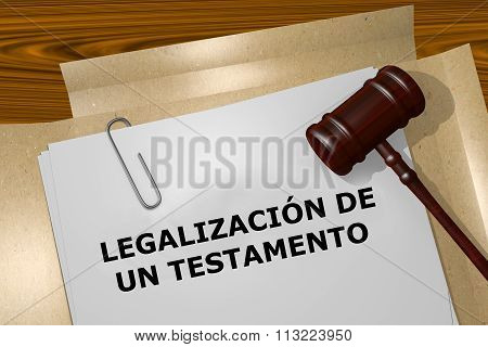 Legalizacion De Un Testamento - The Spanish Expression For Proba