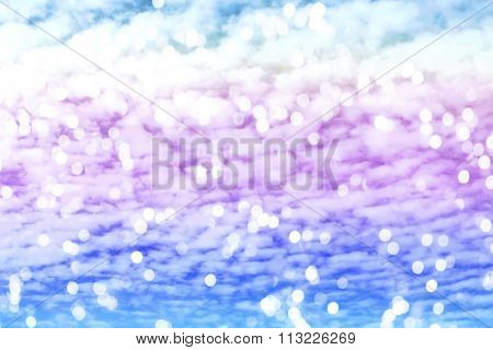 sweet dreamy Altocumulus cloud and Bokeh light soft focus