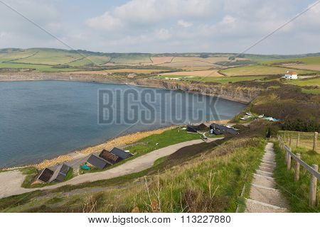 Kimmeridge Bay east of Lulworth Cove and near Kimmeridge village on the Dorset coast England uk