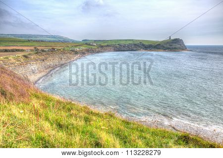 Kimmeridge Bay Dorset jurassic coast England uk in colourful HDR one of Lulworth