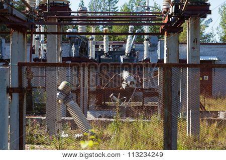 The Destruction At The Transformer Substation