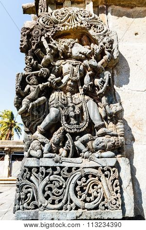 Matsya avatar statue at Chennakesava temple, Belur captured on December 30th, 2015