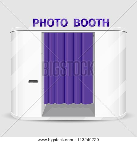 White photo booth vending machine. Vector illustration