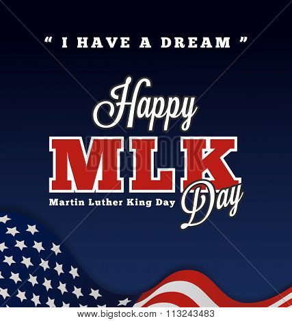 Martin Luther King Day Greeting Lettering