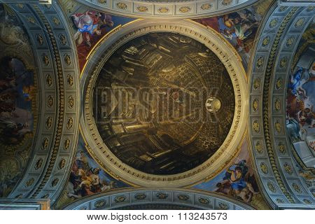 St. Ignatius Of Loyola Dome Ceiling Fresco