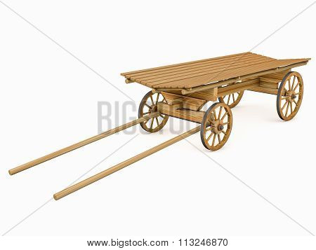 Wooden Cart For The Horse