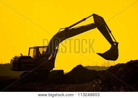 Silhouette Excavator