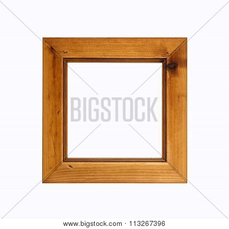 Square Picture Frame Isolated On White Background.