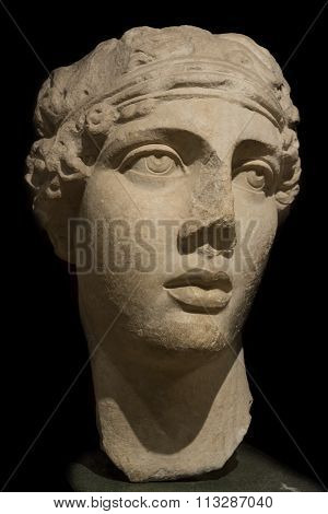 Head Of Sappho The Poet, Istanbul Archeology Museum, Turkey
