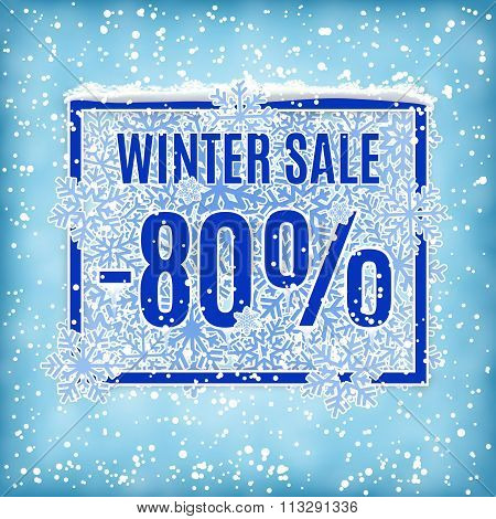winter sale vector banner