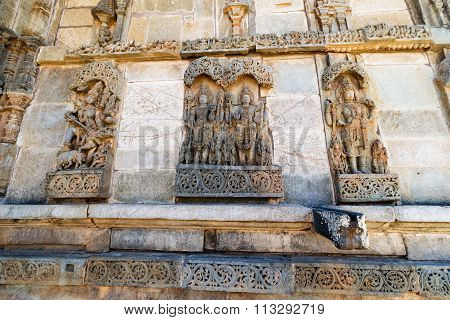 Lord Krishna & Parasurama at Chennakesava temple, Belur captured on December 30th, 2015