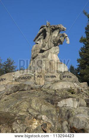 Monument to Georgi Benkovski in  historical town of Koprivshtitsa