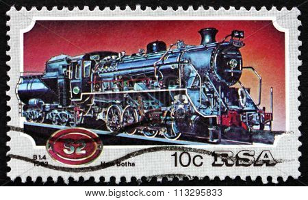 Postage Stamp South Africa 1983 Steam Locomotive, Class 82