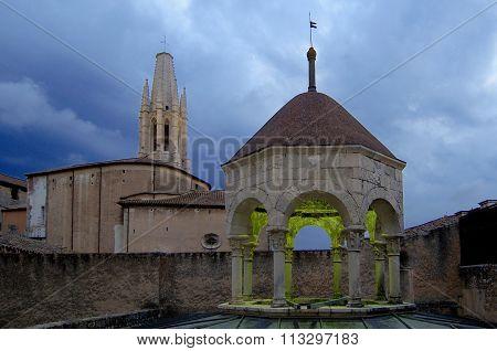 Arab Baths And Church Of Sant Feliu, Girona,spain