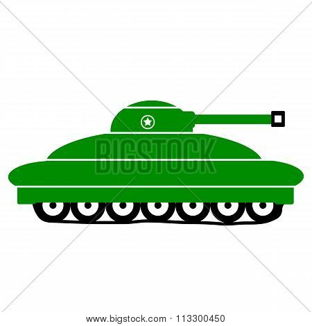 Panzer Icon On White.
