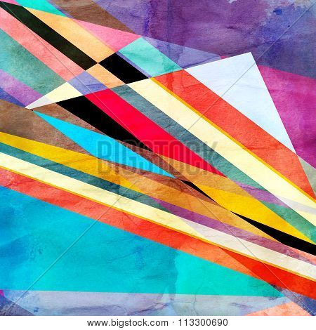 Abstract Colorful Watercolor Background