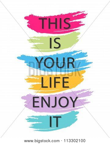 Inspirational and motivational quotes vector poster design poster