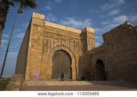 Bab El Kebir Gate Of Kasbah Of The Udayas.