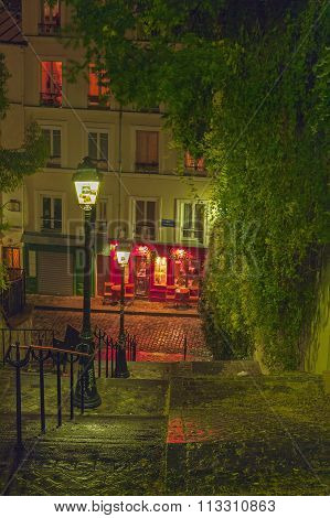 Stairs Leading To The Top Of Montmartre.