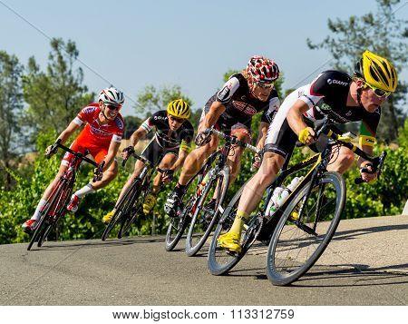 Cyclists road racing