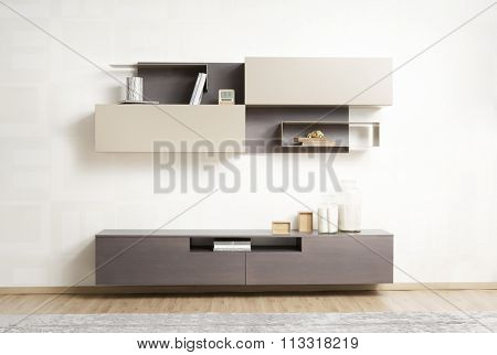 NEW FURNITURE LINE . MODERN DESIGN . STRAIGHT LINES . MATERIALS : WOOD , ITEMS : TV FURNITURE SET