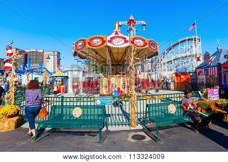 at Luna Park in Coney Island, NYC