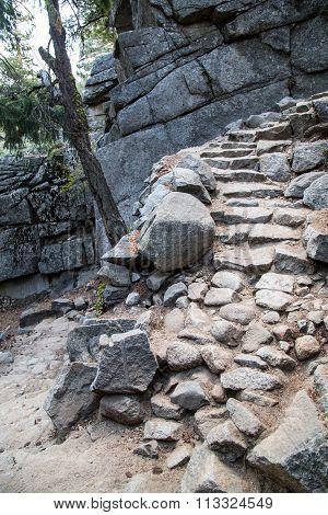 Yosemite Falls mist trail to half dome nationl park