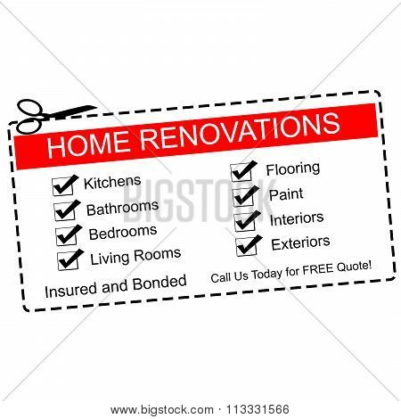 Home Renovations Red Coupon