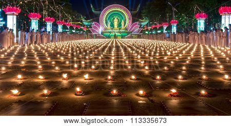 Beauty of the candles in the night