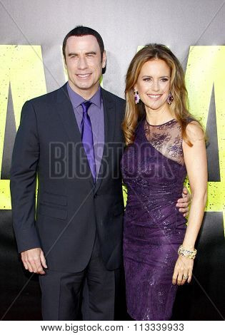 John Travolta and Kelly Preston at the Los Angeles premiere of
