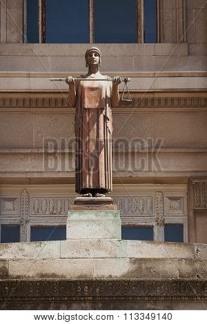 Lady Justice Statue Cardiff