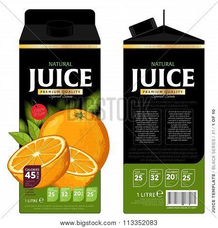 Template Packaging Design Orange Juice