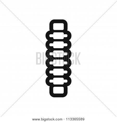 stylish black and white icon human vertebra
