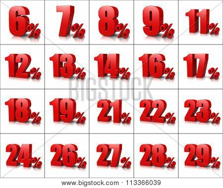 Percentage Numbers Series 2